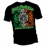 Irish American Firefighter Shirt - Back
